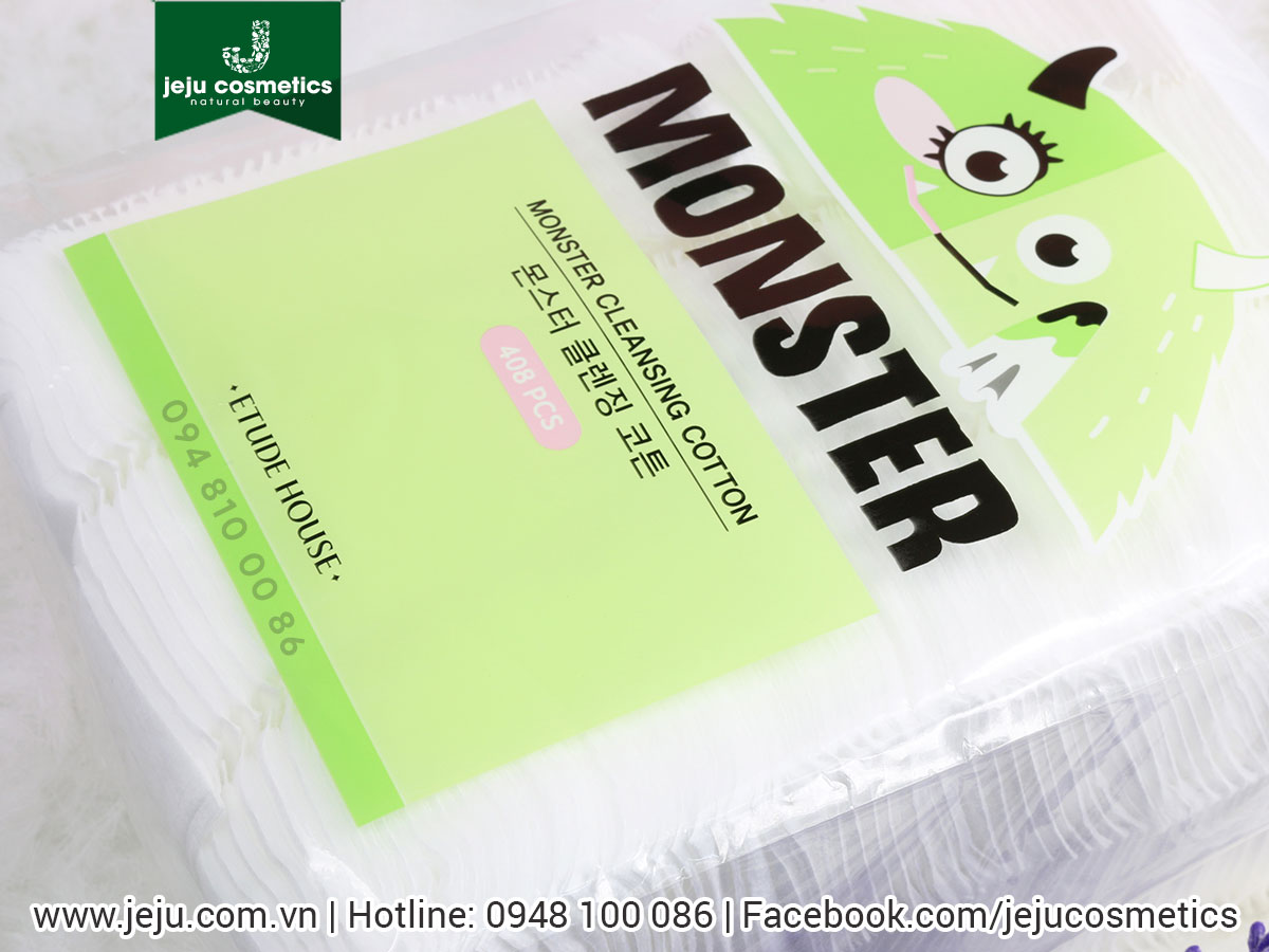 Bông tẩy trang Etude House Monster Cleansing Cotton